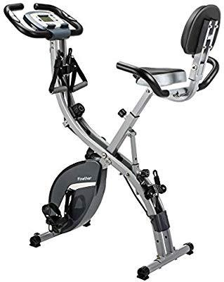 Finether Fitness Bike Folding Magnetic Exercise Bike Home Trainer Bicycle with Resistance