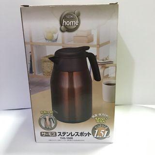 原價2400*THERMOS 膳魔師不銹鋼真空保溫壺 1500ml(1.5L) 咖啡色保溫瓶 咖啡壺
