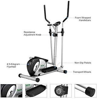 Finether Home Fitness Exercise Bike:Magnetic Elliptical Cross Trainerwith 8 Resistance Levels/Heart