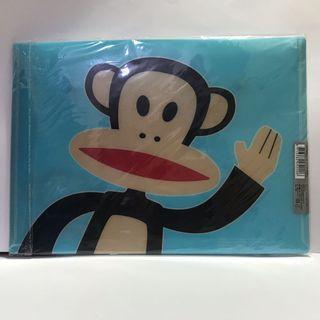 全新台灣製*大嘴猴 Paul Frank A4 PP橫式/直式資料夾 紅色/藍色/黑色各1