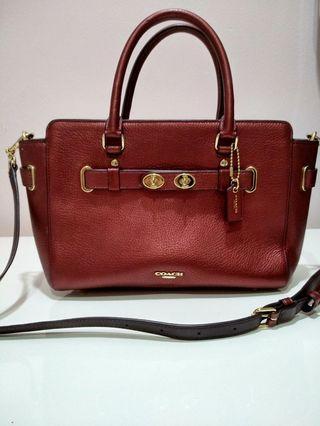 Coach Crossbody Bag, Metallic Burgundy