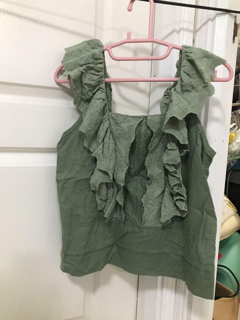 全新💥韓國🇰🇷綠色背心