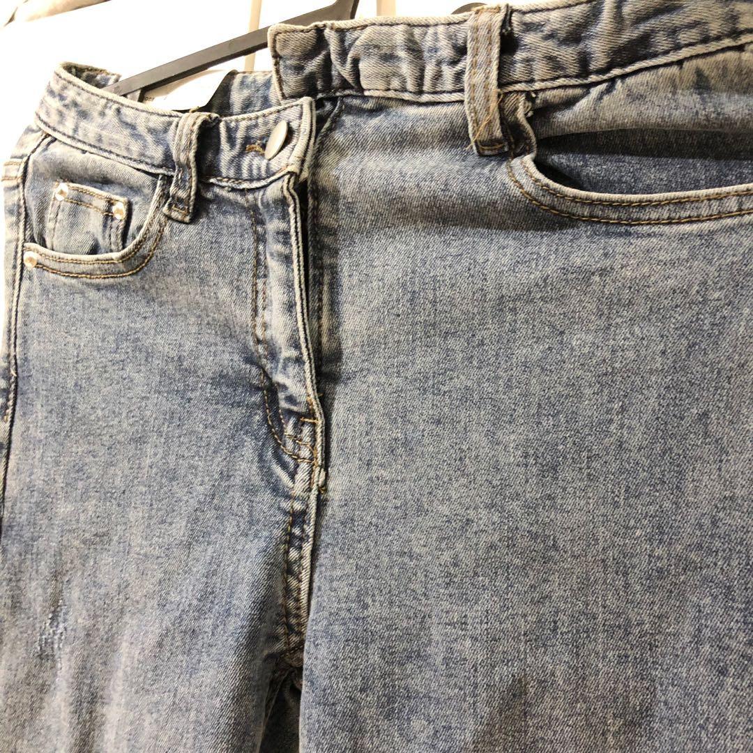 全新  韓版顯瘦彈性 修身 牛仔褲 緊身顯瘦   緊身褲 牛仔褲 破褲 長褲 #五折出清女裝