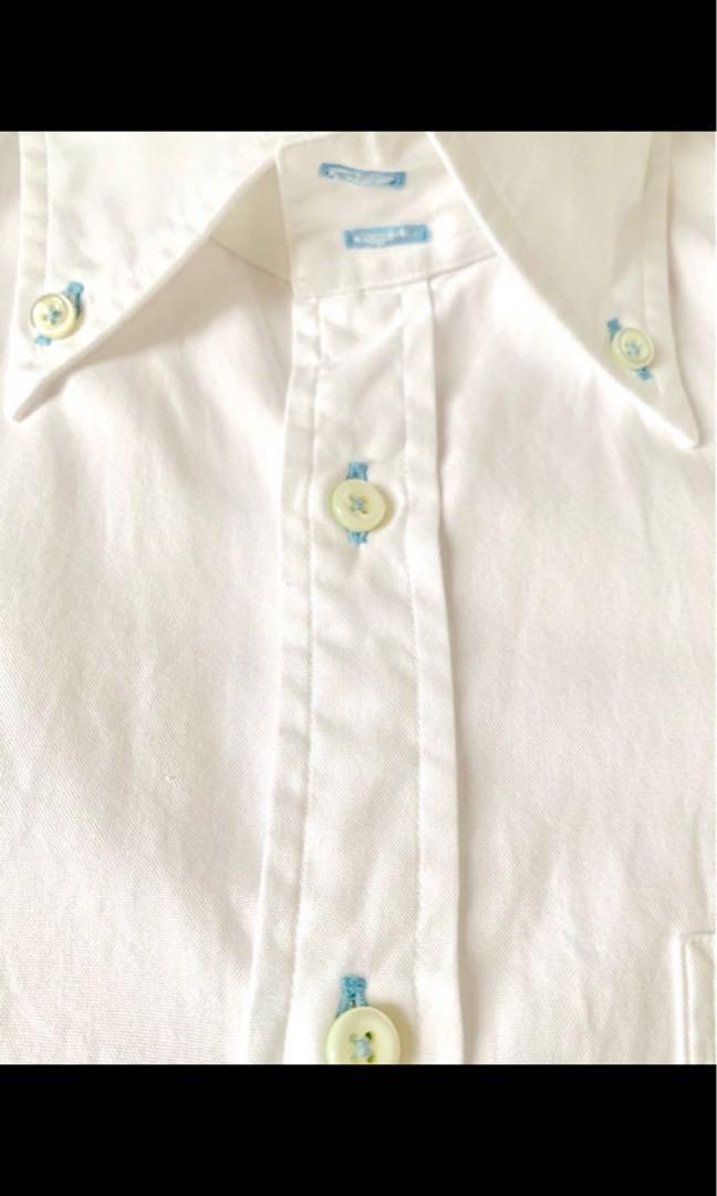 全新 Burberry 白恤衫 Size 38 經典格仔袖口設計 精緻鈕門 經典格仔袖口