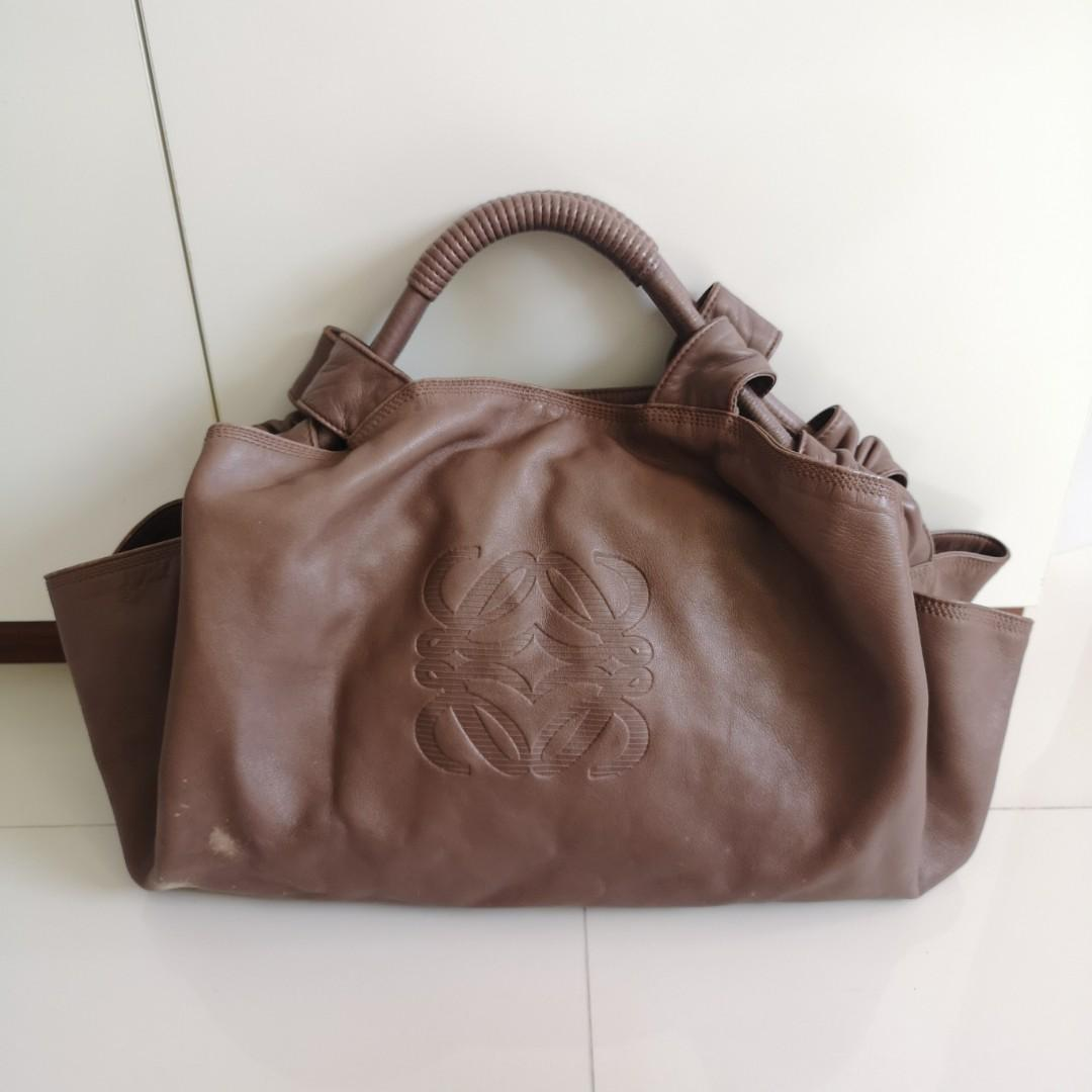 Authentic Loewe Nappa Aire Two-way Hand Bag