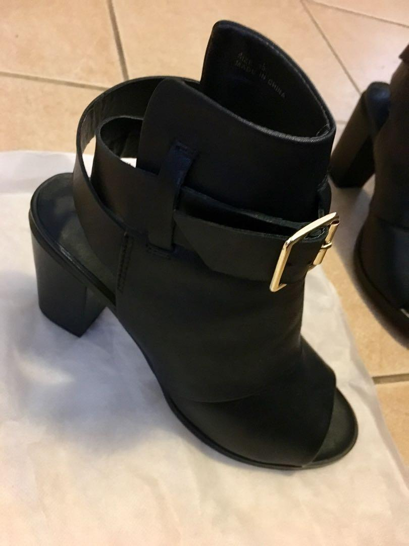 Brand New Shubar Kelsea Black Ankle Boots Size 39 RRP $170