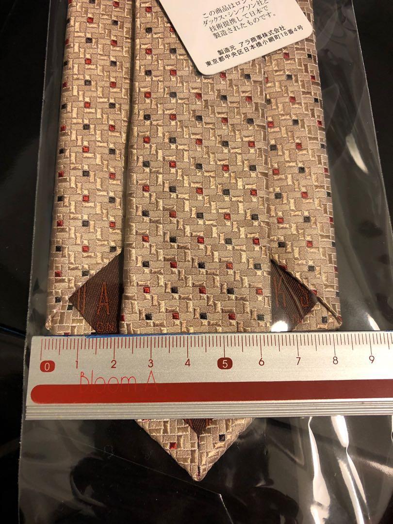 DAKS 細格紋刺繡領帶 全新公司貨原盒原袋