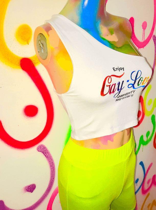 Enjoy gay love omweekend / omighty one shoulder top