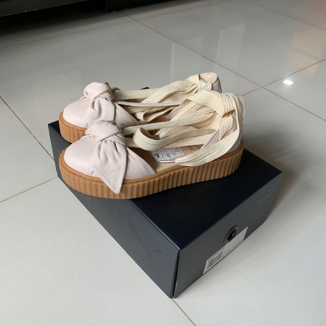 best website 3bf84 95a39 Fenty x Puma Bow Creeper Sandals, Women's Fashion, Shoes ...