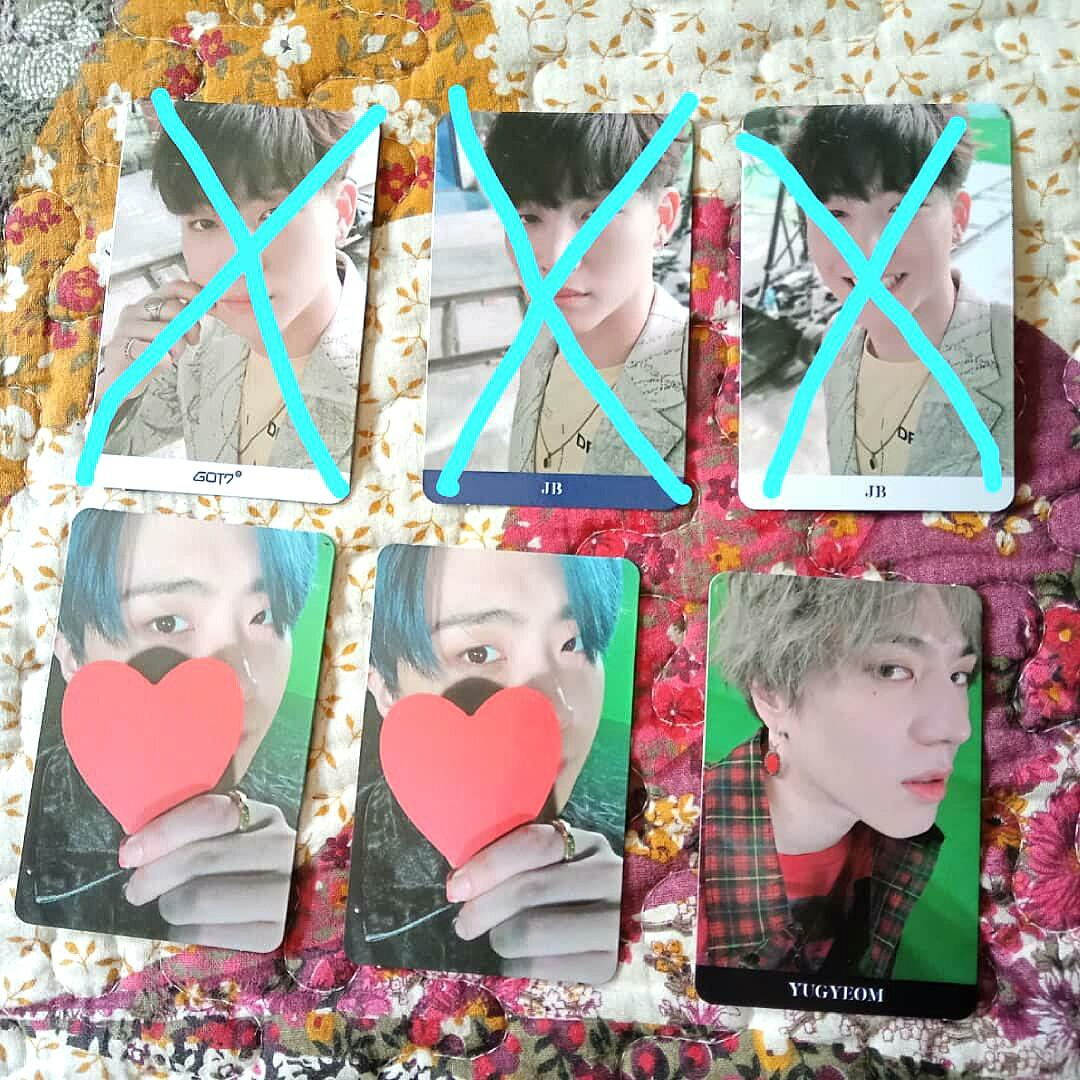 Got7 official photocards (clearance)