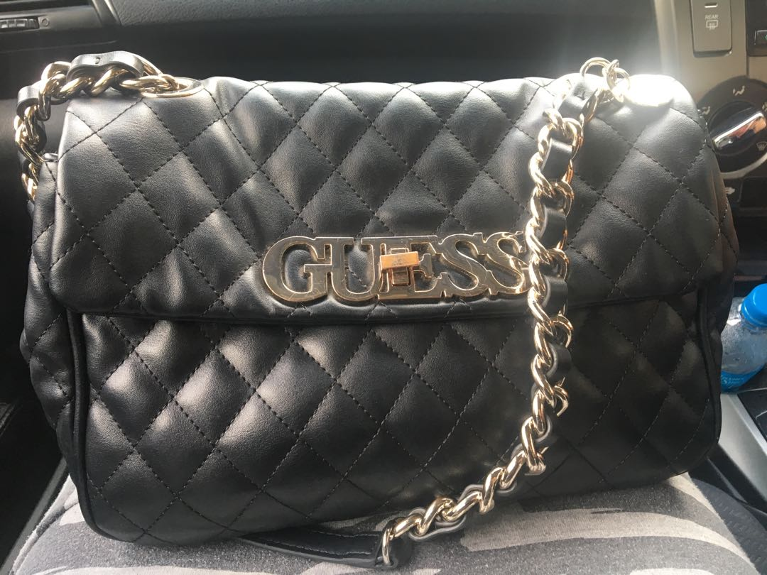 half price innovative design selected material Guess sweet candy quilted shoulder bag( original)