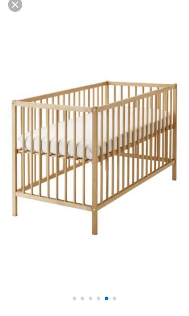 hot sale online 9e1c2 5bd6e Ikea Baby Cot Sniglar + foam mattress Pelleplutt + side ...
