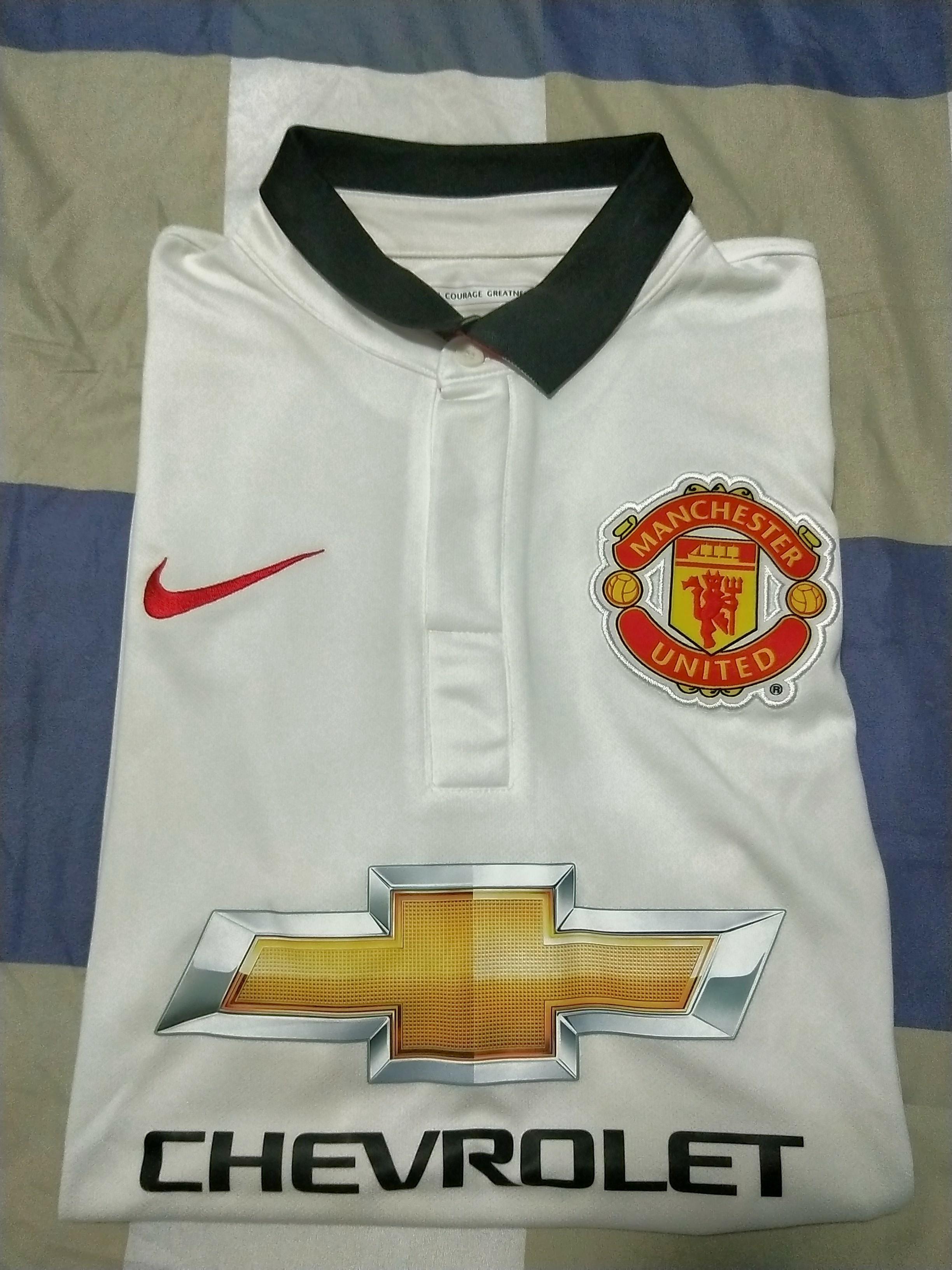 online store 3cc38 93b8e Manchester Utd 2014/2015 Away Replica Jersey, Sports, Sports ...