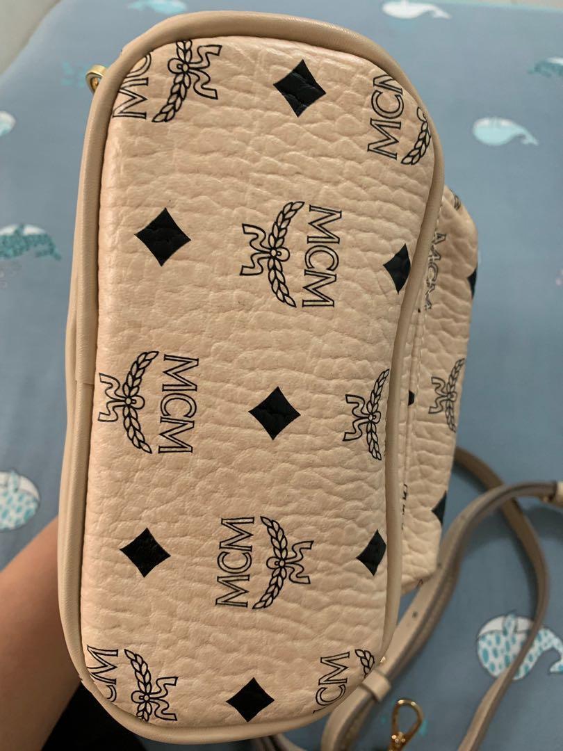 MCM Stark Backpack Mini Bebeboo Beige