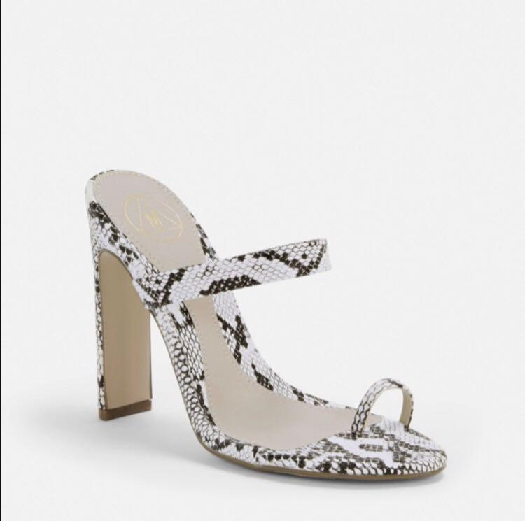 Missguided snake skin mule size 7