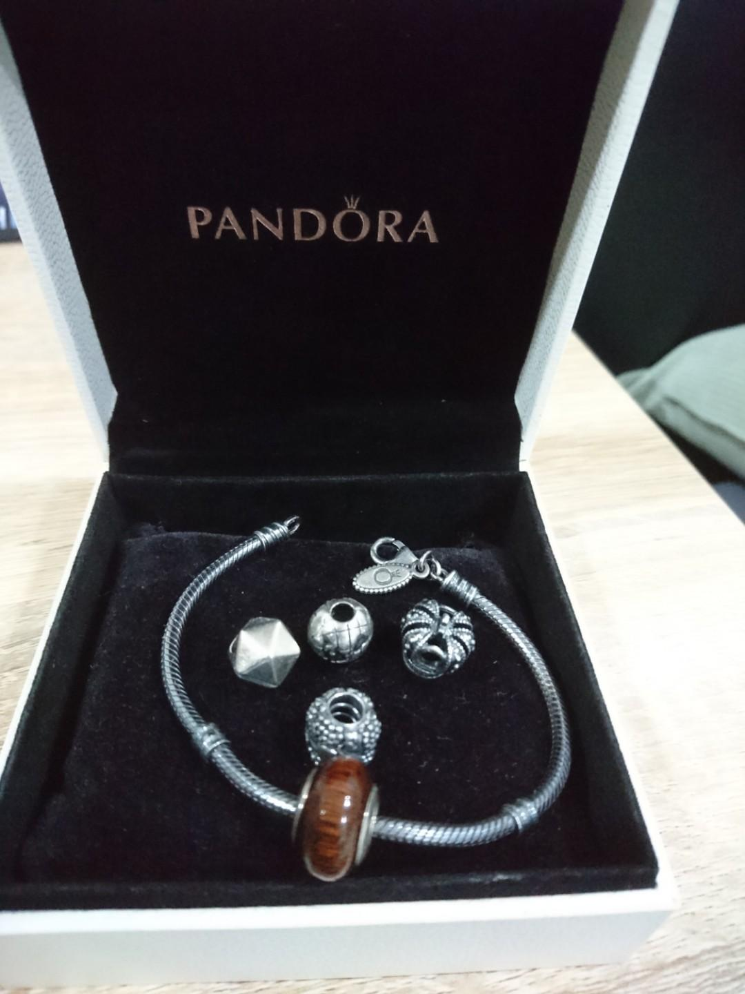 Final Reduction*Pandora Bracelet with 5 Charms, Luxury ...
