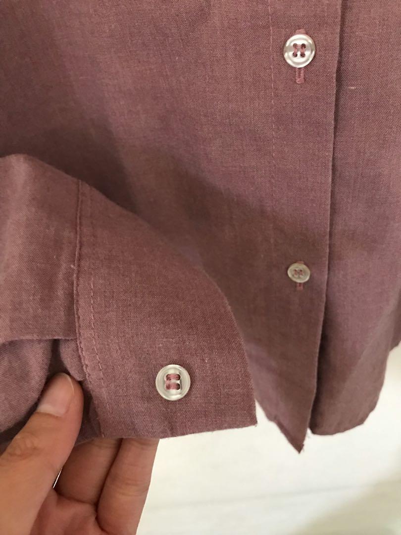 Purple Shirt/Kemeja wanita lengan panjang ungu