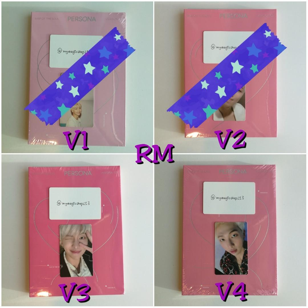 <SOLD> BTS MAP OF THE SOUL: PERSONA FULL SET / LOOSE ITEM / PHOTOCARD
