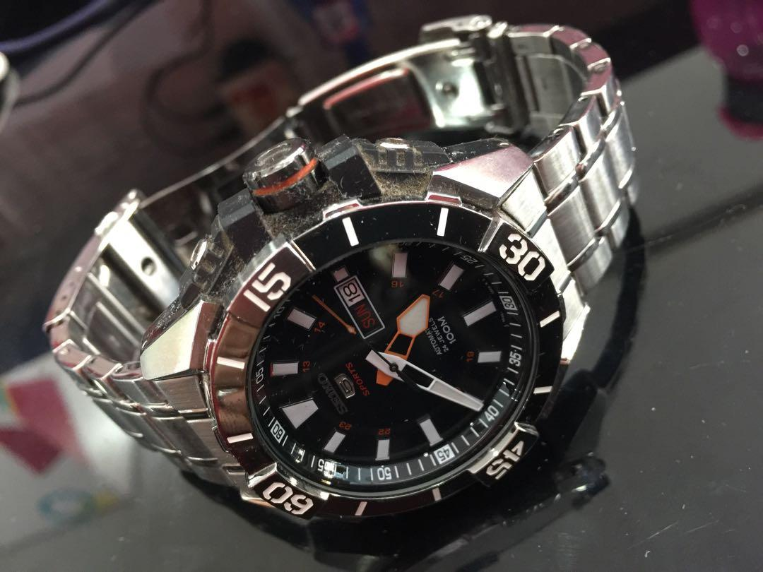 Seiko automatic sports watch