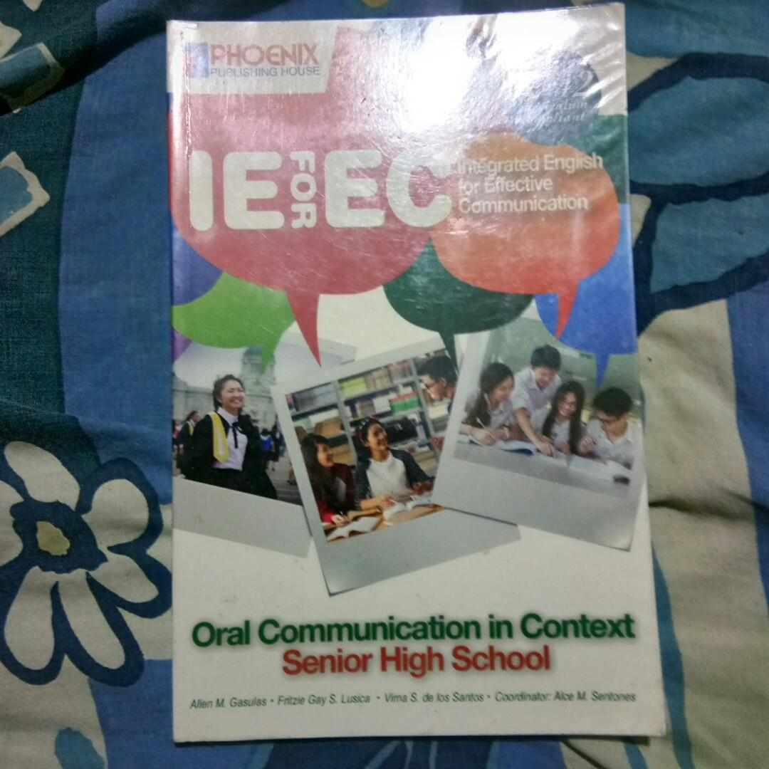 Senior High School Book: ORAL COMMUNICATION IN CONTEXT, PHOENIX Publishing House
