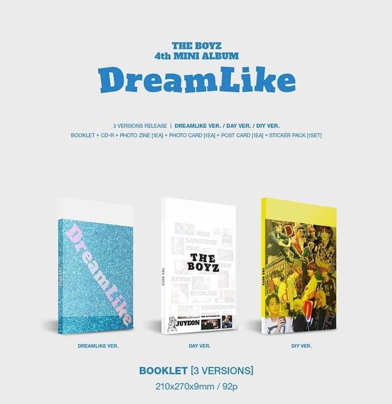THE BOYZ - DreamLike - PREORDER/NORMAL ORDER/GROUP ORDER/GO + FREE GIFT BIAS PHOTOCARDS (1 ALBUM GET 1 SET PC, 1 SET GET 9 PC)