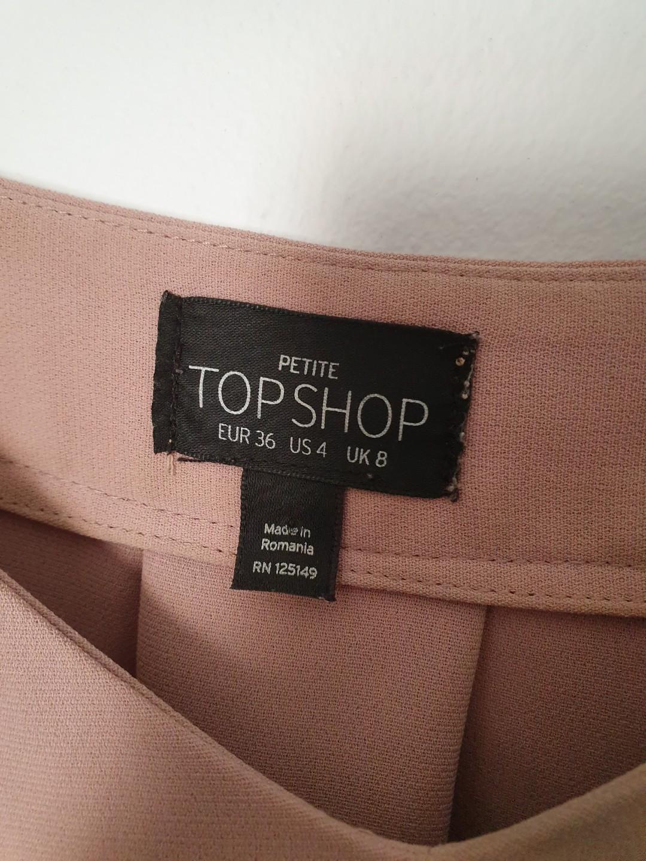 Topshop off shoulder dusty rose top