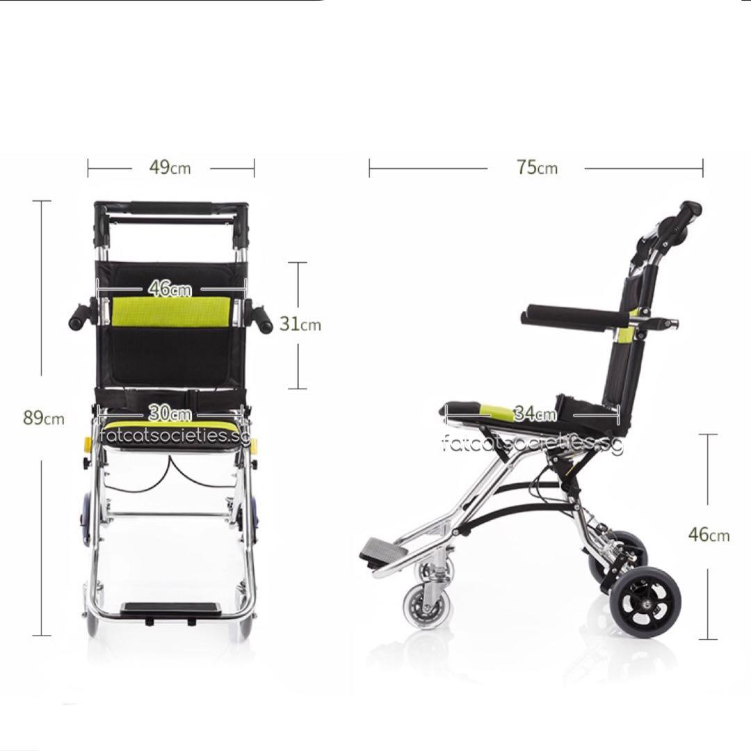 Ultra lightweight pushchair / wheelchair