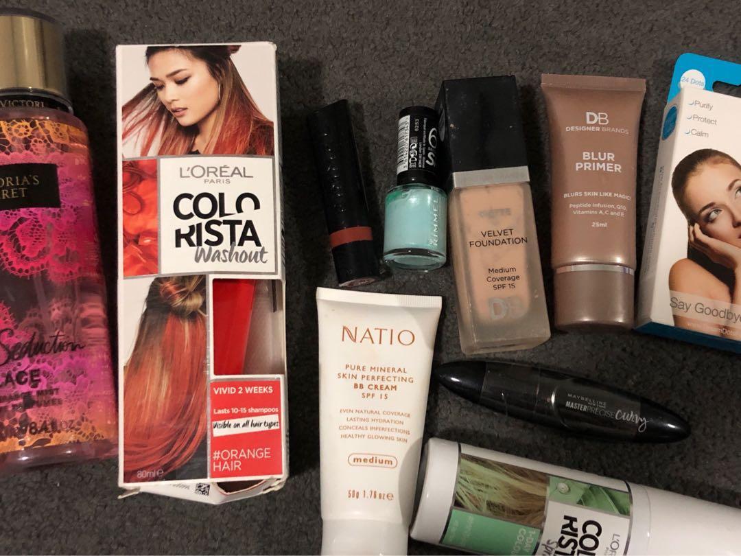 Victoria's Secret, DB Comsmetics, Maybelline, L'Oreal colours some new some used