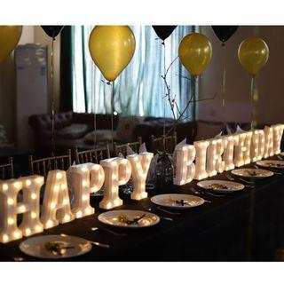 Rental LED Letters for Birthday