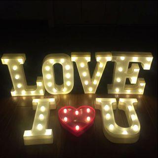 Rental LED LOVE Letters