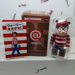 Bearbrick Series 35 Pattern Where's Wally Waldo toy figure