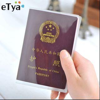 Travel Waterproof Dirt Passport Holder Cover Wallet Transparent PVC ID Card Holders Business Credit Card Holder Case Pouch