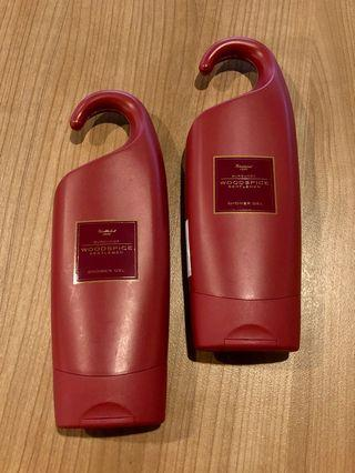 M&S Woodspice Burgundy Shower Gel