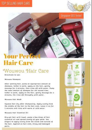Wouwou Hair Care + free hair dryer
