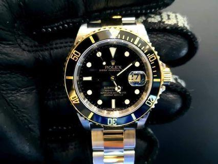 PREOWNED ROLEX SUB-MARINER, 16613 LN, Yellow Rolesor, Oystersteel and 18Ct Yellow Gold, 40mm, M Series @ Year 2009 Mens Watch