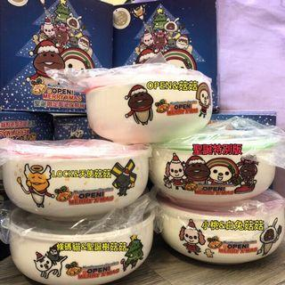 7-11 OPEN&菇菇 聖誕限定陶瓷碗