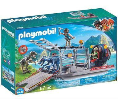 🚚 (New) Playmobil Dinosaur - Enemy Airboat with Raptor Building Set