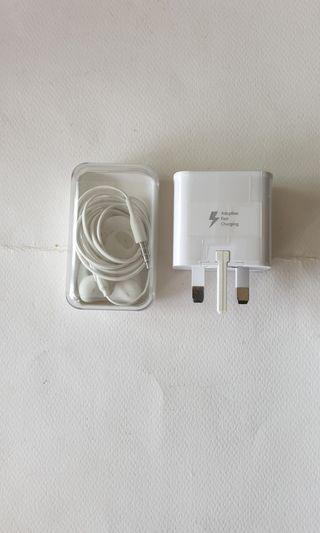 Samsung Fast Charger & Earpiece.