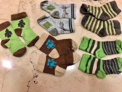 5sets 0-6M Socks