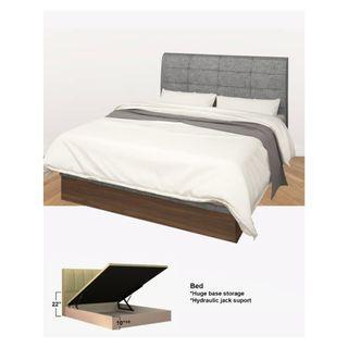LOUIS WOODEN  STORAGE BED
