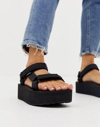 Black Teva Classic  Universal Platform sandals