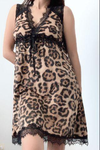 Original Strass Exclusive Brand Dress in Leopard Print