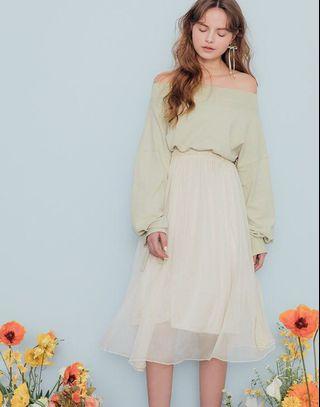 Pazzo杏色仙女裙