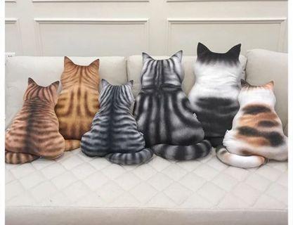 貓貓寵物背影咕𠱸枕頭