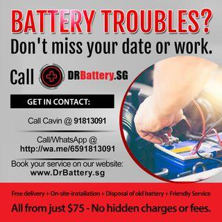 From $75 - For a limited time only - long lasting New Batteries for a small price!
