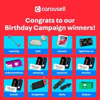 Carousell's Birthday Campaign Winners!