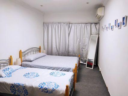 Queen bed and single bed with mattress