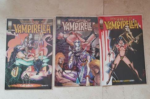vengeance of vampirella #9 #12 #13 harris comics comic comicbook