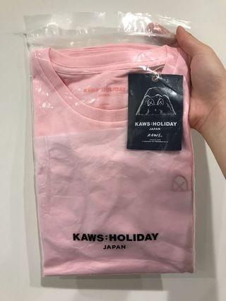 Kaws Holiday Japan 富士山 粉色 L號
