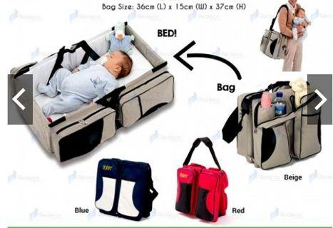 3 in 1 Diapers Bed Bag Mummy Portable Travel